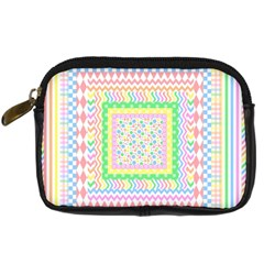 Layered Pastels Digital Camera Leather Case
