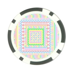 Layered Pastels Poker Chip (10 Pack)