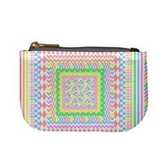 Layered Pastels Coin Change Purse