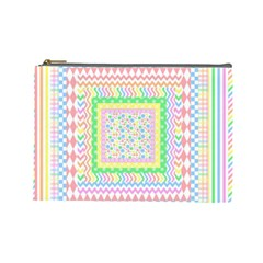 Layered Pastels Cosmetic Bag (large)