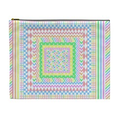 Layered Pastels Cosmetic Bag (xl)