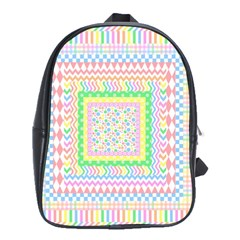 Layered Pastels School Bag (Large)