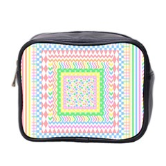 Layered Pastels Mini Travel Toiletry Bag (Two Sides)