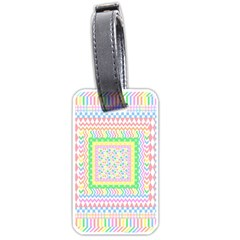 Layered Pastels Luggage Tag (Two Sides)