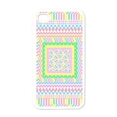 Layered Pastels Apple Iphone 4 Case (white)