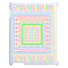 Layered Pastels Apple iPad 2 Case (White)