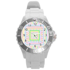 Layered Pastels Plastic Sport Watch (Large)