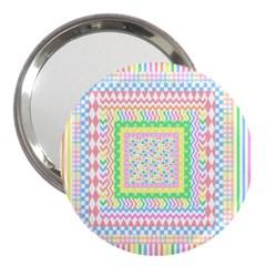 Layered Pastels 3  Handbag Mirror