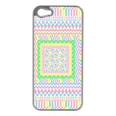 Layered Pastels Apple iPhone 5 Case (Silver)