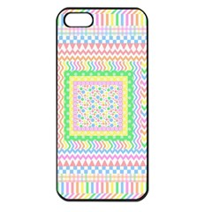 Layered Pastels Apple iPhone 5 Seamless Case (Black)