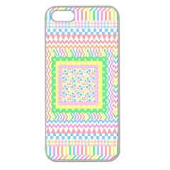 Layered Pastels Apple Seamless Iphone 5 Case (clear)