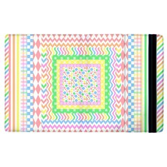 Layered Pastels Apple iPad 3/4 Flip Case