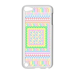 Layered Pastels Apple iPod Touch 5 Case (White)