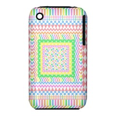 Layered Pastels Apple iPhone 3G/3GS Hardshell Case (PC+Silicone)