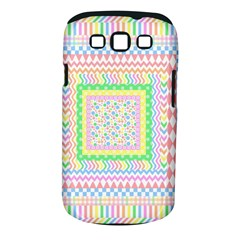 Layered Pastels Samsung Galaxy S III Classic Hardshell Case (PC+Silicone)