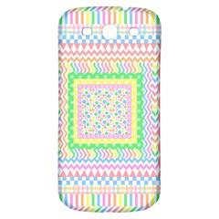 Layered Pastels Samsung Galaxy S3 S III Classic Hardshell Back Case