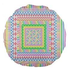 Layered Pastels 18  Premium Round Cushion