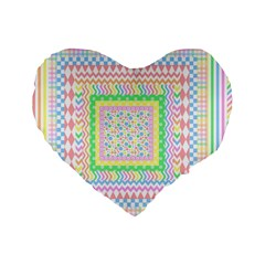 Layered Pastels 16  Premium Heart Shape Cushion