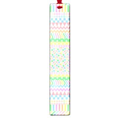 Layered Pastels Large Bookmark