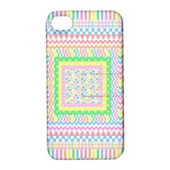 Layered Pastels Apple iPhone 4/4S Hardshell Case with Stand