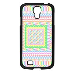 Layered Pastels Samsung Galaxy S4 I9500/ I9505 Case (black)
