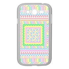 Layered Pastels Samsung Galaxy Grand DUOS I9082 Case (White)