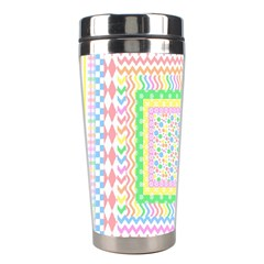 Layered Pastels Stainless Steel Travel Tumbler