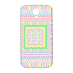 Layered Pastels Samsung Galaxy S4 I9500/I9505  Hardshell Back Case