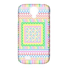 Layered Pastels Samsung Galaxy S4 Classic Hardshell Case (PC+Silicone)