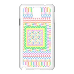 Layered Pastels Samsung Galaxy Note 3 N9005 Case (White)