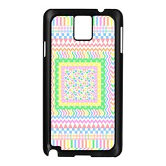 Layered Pastels Samsung Galaxy Note 3 N9005 Case (black)