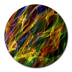 Colourful Flames  8  Mouse Pad (Round)
