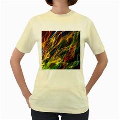Colourful Flames  Women s T-shirt (Yellow)