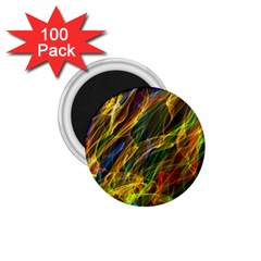 Colourful Flames  1 75  Button Magnet (100 Pack)