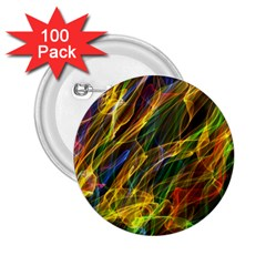 Colourful Flames  2 25  Button (100 Pack)