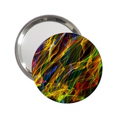 Colourful Flames  Handbag Mirror (2.25 )