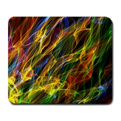 Colourful Flames  Large Mouse Pad (Rectangle)