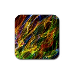 Colourful Flames  Drink Coaster (Square)