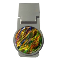 Colourful Flames  Money Clip (round)