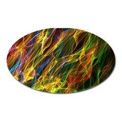 Colourful Flames  Magnet (Oval)