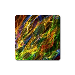 Colourful Flames  Magnet (Square)