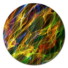 Colourful Flames  Magnet 5  (Round)