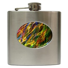 Colourful Flames  Hip Flask