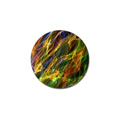 Colourful Flames  Golf Ball Marker