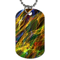 Colourful Flames  Dog Tag (two Sided)