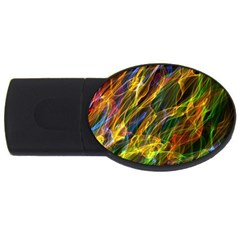 Colourful Flames  2GB USB Flash Drive (Oval)