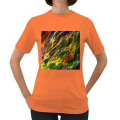 Colourful Flames  Women s T-shirt (Colored)
