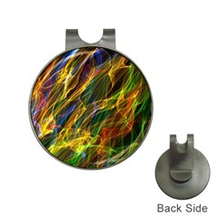 Colourful Flames  Hat Clip with Golf Ball Marker