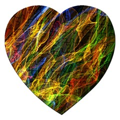 Colourful Flames  Jigsaw Puzzle (Heart)