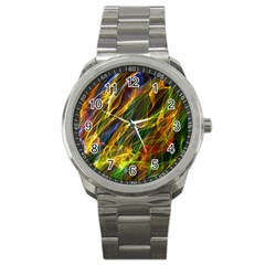 Colourful Flames  Sport Metal Watch